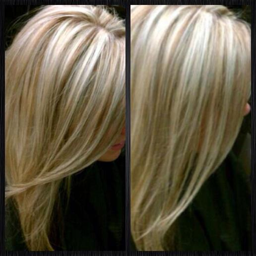 Lowlights : ... have to go dark this fall. Platinum blonde with lowlights for fall